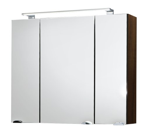 Posseik 5681 78 Spiegelschrank Rima 80 cm, breit Walnuß: Amazon.de