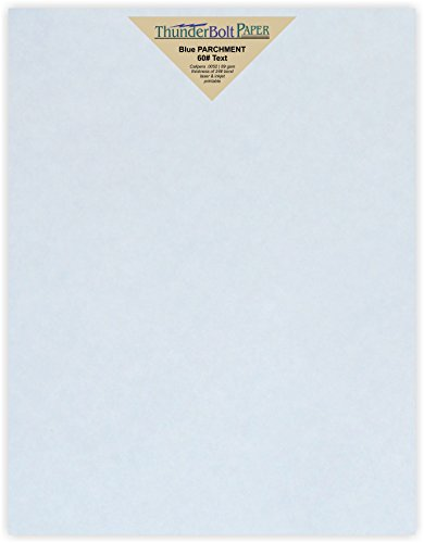 Text 60lb Blue - 100 Light Blue Old Age Parchment 60# Paper Sheets - 8.5