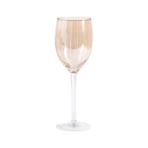 Gibson Home Bancroft Bay Goblet (Pack of 4), 16-Ounce, Gold Etched Glass 103293.04R