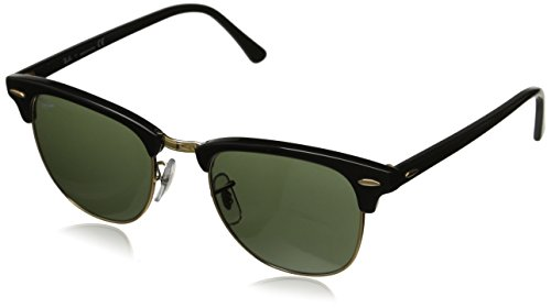 Ray-Ban RB 3016 W0365 Clubmaster Black / Green Crystal Frame Size: - Ban Sizes Frame Ray Clubmaster