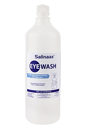 Salinaax Sterile Eyewash Solutions - (32-ounce) by Eyes-Plus