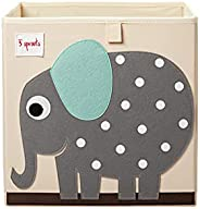 3 Sprouts Cube Storage Box - Organizer Container for Kids & Toddlers, Elep