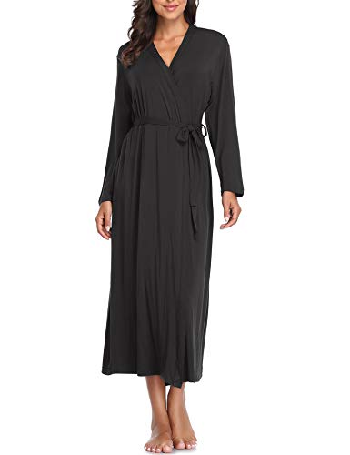 Lusofie Women Soft Robe Kimono Knit Sleepwear Bridesmaids Spa Robe Short Bathrobe