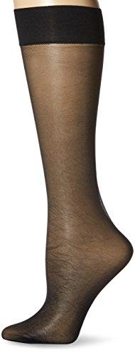 - HUE Women's Sheer Knee Hi Socks 2 Pair Pack, black, One Size