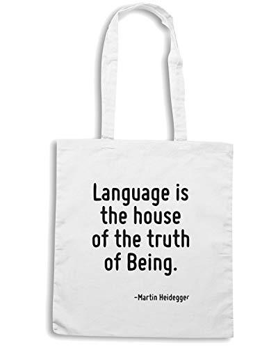 Borsa HOUSE THE TRUTH CIT0140 LANGUAGE OF IS Speed Shirt BEING THE Bianca OF Shopper qnwxSaZq15