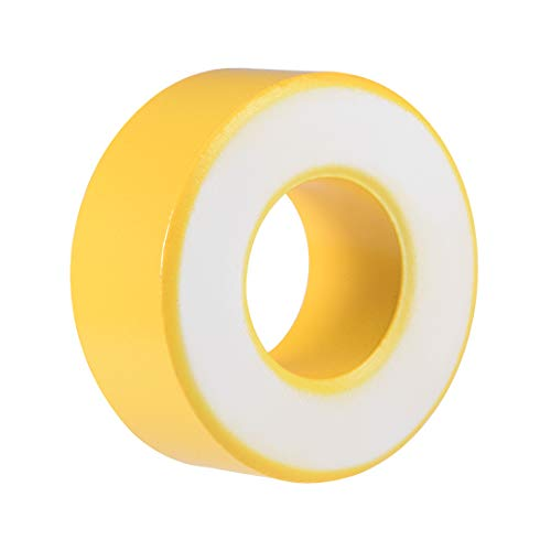 uxcell 31.2X 64 x 26mm Ferrite Ring Iron Powder Toroid Cores Yellow White by uxcell