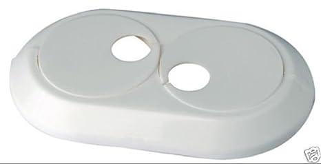 Pack de 5 embellecedores dobles para radiador - Blanco - 12 - 28 mm: Amazon.es: Bricolaje y herramientas