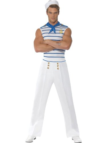 Scary Sailor Costumes - Smiffys French Sailor Adult Costume -