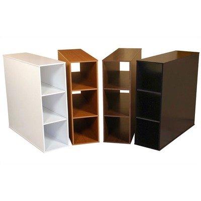 Bundle-45 Project Center 3 Bin Cabinet (Set of 2) Finish: Dark Walnut