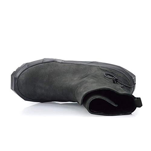 Pfmy Style Augmenter Loisir dg Mode Fond Européen Dentelle Épais Bottes Des Plates Martin Chaussures Hiver Hommes Black Intérieure Pour Augmentation Automne Chaudes SwrvBxS