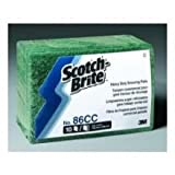 3M Scotch Brite Heavy Duty Scouring Pad, 6 x 9 inch - 10 per pack -- 6 packs per case.