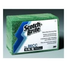 3M Scotch Brite Heavy Duty Scouring Pad, 6 x 9 inch - 10 per pack -- 6 packs per case. by 3M