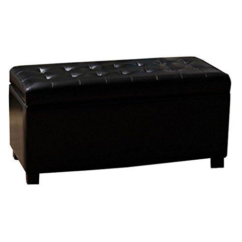 Whse of Tiffany Malm Storage Bench, Black