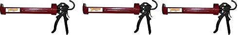 Newborn 255 Super Smooth Rod Revolving Frame Caulking Gun, 1/4 Gallon Cartridge, 18:1 Thrust Ratio (3-(Pack))
