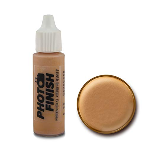 Photo Finish Professional Airbrush Makeup Foundation, airbrush makeup, water and sweat resistant, long-wearing, works with airbrush makeup kits (.5 fl oz, Golden Tan Luminous)