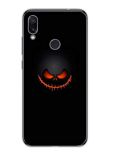 Fvntuey Case for Xiaomi Redmi Note 5 Pro Soft Cover Pattern (Halloween Pumpkin Heartbeat) Full Body Protective Shell Ultra-Thin Silicone 360° Bumper Accessories Compatible with Redmi Note 5 Pro(3)