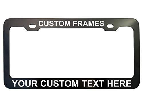 GoPlates Customized License Plate Frame Laser Engraved - -