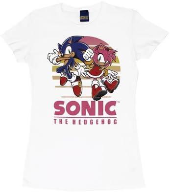 Sonic And Amy Sonic The Hedgehog Sheer Women S T Shirt Junior Medium White At Amazon Women S Clothing Store Fashion T Shirts