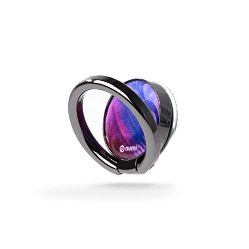 NUMI Phone Spinner (Purple) - 3-in-1 Phone Spinner, Smartphone Stand, and Phone Ring - Ultimate Smartphone Accessory for iPhone, Samsung and All Smartphones]()