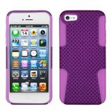 Asmyna AIPHONE5HPCAST014NP Astronoot Premium Hybrid Case with Durable Hard Plastic Faceplate for iPhone 5 - 1 Pack - Retail Packaging - Purple/Electric Pink
