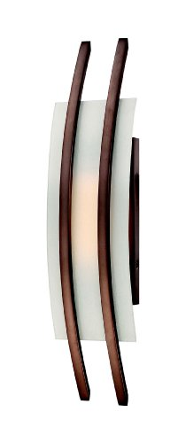 Nuvo Lighting 62/122 Trax LED One Light Wall Sconce 4.8 Watt 285 Lumens Soft White 2700K KolourOne Technology Frosted Glass Hazel Bronze Fixture