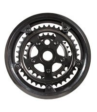 Action Triple 48//38//28T Black W//Guar Chainring 1Pc 565//1451
