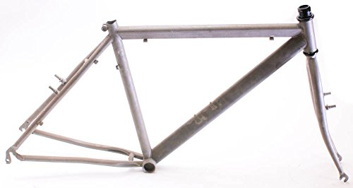 "Italian RAW Steel 19"" MTB Bike Hardtail Frame 26"" Rim Brake Unpainted NEW"
