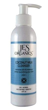 Coconut Milk Facial Cleanser, Age Defying, Organic Infused, Paraben Free (Dry, Sensitive,...