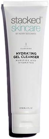 StackedSkincare - Limpiador facial de gel hidratante – limpia y elimina impurezas sin pelar la piel de la humedad