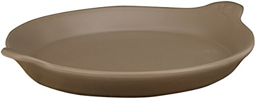 Eurita by Reston Lloyd Flame Safe Au Gratin Porcelain Pan, Small, Mocha