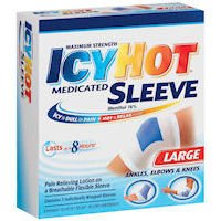 Icy Hot Extra Strength, Flexible Knee and Ankle Sleeve By Chattem, 12 Inches-24 Inches, Large - 3 Each (Icy Hot Sleeve)