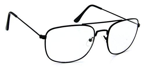 Tantino® Black Metal Aviator Glasses Sunglasses Rectangular Photocromic Transition Lens - Transition Sunglasses