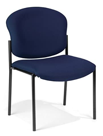 OFM 408-804 Armless Stack Chair, Navy - Ofm Armless Stacking Chair