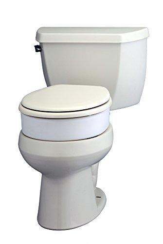 NOVA Medical Products 8346 Toilet Seat Riser, Hinged, Elonga