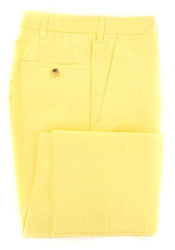 cesare-attolini-yellow-solid-pants-slim-34-50