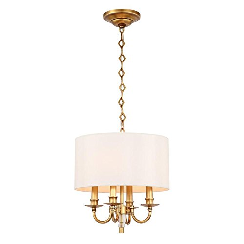 Crystorama 8704-AG Lawson 4 Light Convertible Mini Chandelier in Aged Brass Finish