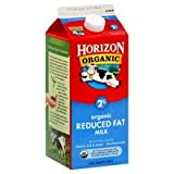 HORIZON MILK ORGANIC 2% REDUCED FAT 64 OZ PACK OF 2