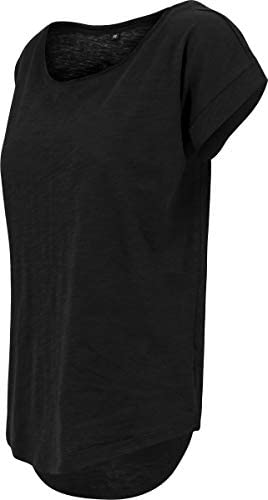 Build Your Brand Ladies Long Slub Tee T-Shirt damski: Odzież