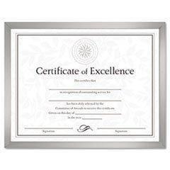 Reg DAX N17002N Value U-Channel Document Frame w/Certificates, 8 1/2 x 11, Silver - Value U-channel Easel