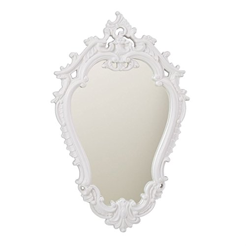 Brylanehome Hazel Victorian Style Mirror (White,0) by BrylaneHome