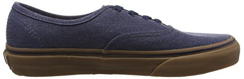 Gum Authentic Canvas Scarpe da Vans Ginnastica Washed Dress Basse Blues Unisex Adulto Blu f7qzSpx