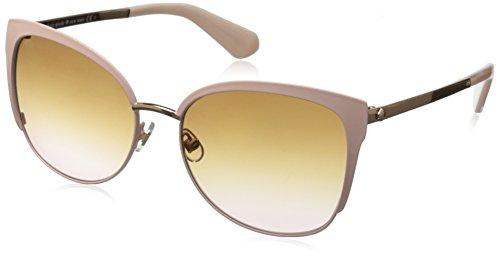 Kate Spade Women's Genice/s Oval Sunglasses, Pink Gold/Brown Pink Gradient, 57 - Kate Pink Sunglasses Spade