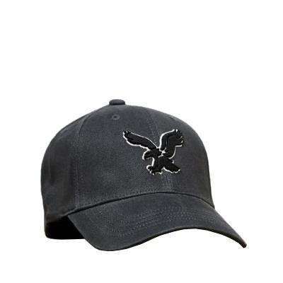 American Eagle Baseball Hat (American Eagle Outfitters Dark Grey w/Black Eagle Logo Baseball CapS/M)
