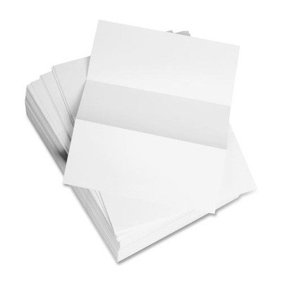 Domtar Products - Custom Cut Sheets, Microperf Every 3-2/3amp;quot;, 5 RM/CT, White - Sold as 1 CT - Punched and perforated paper is ideal for healthcare forms, medical charts, invoices, statements, remittance coupons and more. Compatible with high-speed copiers, laser and inkjet printers and offset presses. Letter-size sheets are custom laser cut. 20 lb. Custom Cut Punched Paper