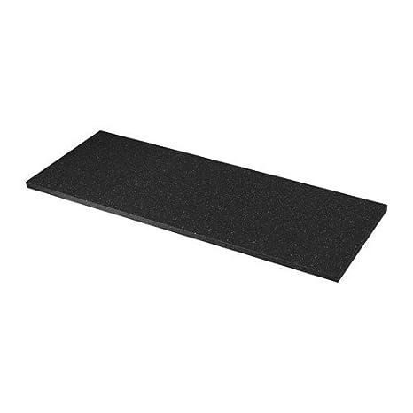 Encimera de cuarzo de colour negro con diseño de IKEA säljan; (186 x 3
