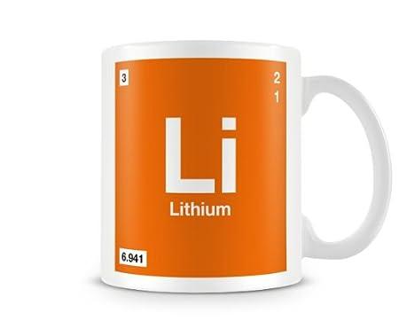 Periodic Table Of Elements 03 Li Lithium Symbol Mug Amazon