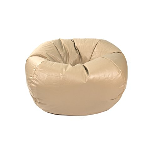 Green Vinyl Bean Bag (Gold Medal Bean Bags Small/Toddler Leather Look Vinyl Bean Bag, Cobblestone)