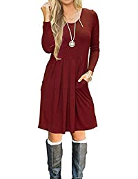 Womens Casual Dress With Sleeves