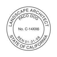 CALIFORNIA LANDSCAPE ARCHITECT SUPPLIES // CALIFORNIA // CUSTOMIZED / PERSONALIZED LANDSCAPE ARCHITECT SEAL (STAMP) // iSTAMP PROFESSIONAL (Landscape Architect Seal)
