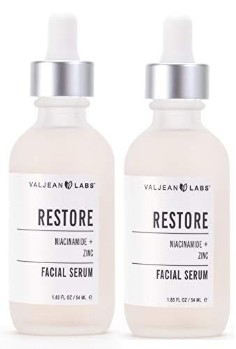 Valjean Labs Facial Serum, Restore, Niacinamide + Zinc